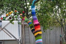 Soft graffiti/yarn bombing
