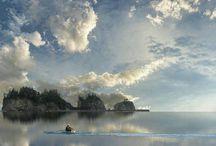 """Egyedül/Alone / """"Magányos csónak a tengeren"""" /""""Lonely boat on the sea"""""""