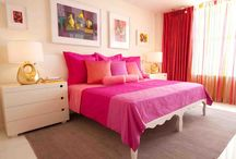 Navy Blue And Pink Bedroom