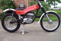 Vintage trial bikes