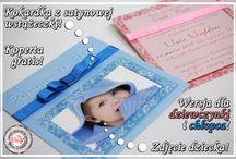 Zaproszenia kolorowe / Zaproszenia na urodziny, chrzciny, chrzest, roczek! Piękne, kolorowe z kokardkami. Więcej na www.cardsdesign.pl  Zaproszamy!