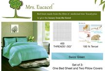 Mrs. Eucacel / #Bed #Linen Made From Medicinal Plant Eucalyptus, To Give Healthy Luxury. #Vitamin #E Enriched!!!                  Recommended By #Dermatologists!!! We Care, Even When You Sleep!!