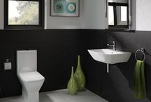 Bathroom Suites / Original Tile and Bathroom of Pembrokeshire - unique collection of bathroom suites including rimless WCs, close-coupled WCs, basins, pedestals and cistern at affordable prices and always of the highest quality.