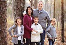 Family photo posing.