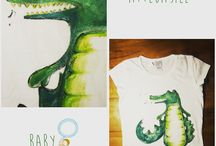 nanetti in t.shirt attebasileattebasile / T-shirt dipinta a mano della collezione attebasileattebasile #attebasile