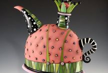 Quirky teapots and cups
