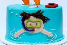 Торт на тему плавания
