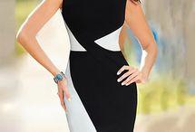 Vestidos black white