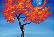 cotton bud painting