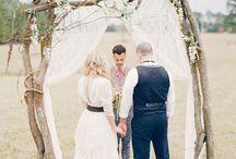 dream rustic outdoor hippie wedding / by Jennifer Johns