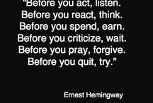 Quotes: My favorites inspirational sayings