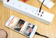 SMART CHARGING POWER STRIP DESKTOP SURGE PROTECTOR PATCH BOARD WITH 2 USB PORTS AND 2 TYPE-C OUTLETS
