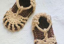 Sapatos tricô/crochê infantil
