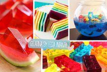 Gelatina em festa infantil / Ideias para servir gelatina em festa infantil