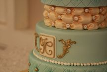 Tufted cake. Teal