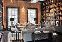Vintage Living Style / Retro living style in old unused industrial plants by using loft spaces as apartments