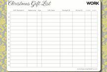 Lists / List Printables