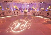 dancefloor with initials