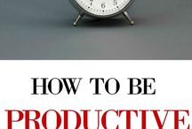 Productivity + Time Management / Follow these tips to be more productive and better manage your time on a day to day basis!