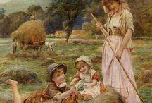 quadri con contadini