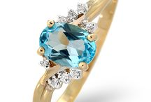 Topaz Jewellery - November Birthstone / Topaz is the birthstone for November and the gem for 16th wedding anniversaries. Blue topaz has a beautiful glacier-blue colour, which makes it an ideal winter birthday gift.