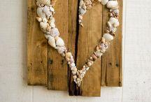 my shells / making shell art