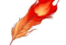 Inspirations - Feather /  for my future phoenix tatoo