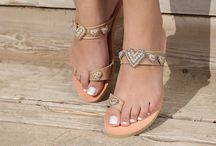 "Leather Handmade Luxury Sandals ""Hearts"" DT - 852 col. Topaz"