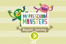 My Preschool Monsters App for kids / Educational App for preschool children.  Learn and get fun with Hoho and Haha in their kitchen.  #MyMonsters