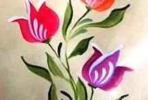 Pintura Rosemaling - Bauern. / Pintura decorativa.
