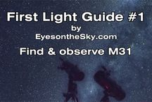 First Light Guides / How to find galaxies, nebula, star clusters, and double stars with a telescope.