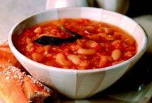 постный греческий суп с фасолью