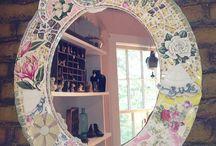 mirrors broken china