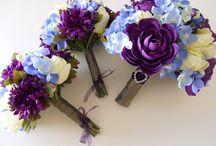 blue and purple wedding stuff / by Samantha Hobbins