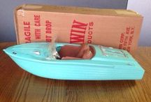 Vintage toy boats