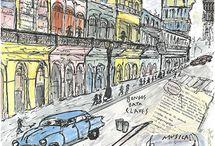 urban sketch art