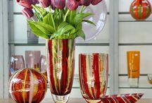 Vidros de Murano na Decoração! / Veja + Inspirações e Dicas de decoração no blog!  www.construindominhacasaclean.com