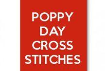 Poppy Day Cross stitches