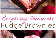 Brownies with a Raspberry Cheesecake