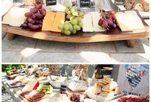 cheese and wine wedding