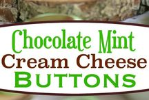 sweets for bake night with family 2017( chocolate mint cream cheese buttons