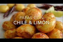PAPAS con CHILE PIQUIN y LIMON