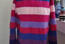 Stripey jumpers / Hand knitted Stripey jumpers designed and knitted by bexknitwear