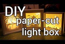 papercut light box