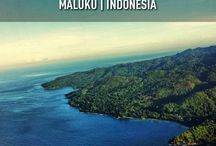 Ambon Island from on the sky