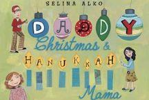 Books celebrating Christmas and Hanukkah