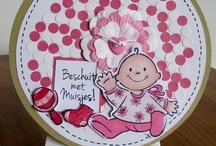 Baby kaarten / Diverse Paper Art materialen