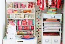 Katie's Craft Closet Inspiration Board / by Susan Baskerville