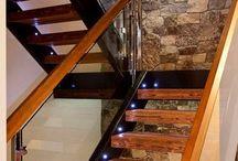 tangga dinding batu alam