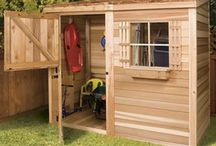 Cedar Lean-To Sheds / Cedarshed Lean To kits are an attractive and functional outdoor storage solution and can be erected in small spaces against a house or fence.
